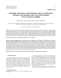 "Báo cáo lâm nghiệp:""Daylength, temperature and fertilization effects on desiccation resistance, cold hardiness and root growth potential of Picea mariana seedlings"""