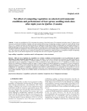 "Báo cáo lâm nghiệp:""Net effect of competing vegetation on selected environmental conditions and performance of four spruce seedling stock sizes after eight years in Québec (Canada)"""