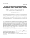 "Báo cáo lâm nghiệp:""Post-grazing Scots pine colonization of mid-elevation heathlands: population structure, impact on vegetation composition and diversity"""