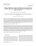 "Báo cáo lâm nghiệp: ""Effects of defoliation on the frost hardiness and the concentrations of soluble sugars and cyclitols in the bark tissue of pedunculate oak (Quercus robur L.)"""