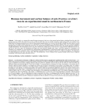 "Báo cáo lâm nghiệp: ""Biomass increment and carbon balance of ash (Fraxinus excelsior) trees in an experimental stand in northeastern France"""