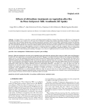 "Báo cáo lâm nghiệp: ""Effects of silviculture treatments on vegetation after fire in Pinus halepensis Mill. woodlands (SE Spain)"""