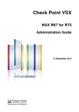 Check Point VSX NGX R67 for R75 Administration Guide