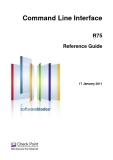 Command Line Interface R75 Reference Guide