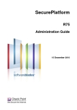 SecurePlatform R75 Administration Guide