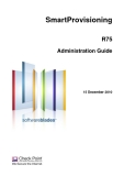 SmartProvisioning R75 Administration Guide