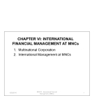 International financial management at MNCs