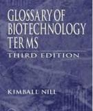 GLOSSARY OF BIOTECHNOLOGY TERMS