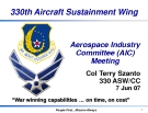 330th Aircraft Sustainment Wing Aerospace Industry Committee (AIC) Meeting phần 1