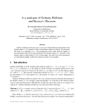 "Báo cáo toán học: ""A q-analogue of Graham, Hoffman and Hosoya's Theorem"""