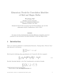 """Báo cáo toán học: """"Elementary Proofs for Convolution Identities of Abel and Hagen–Rothe"""""""