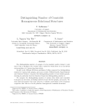 """Báo cáo toán học: """"Distinguishing Number of Countable Homogeneous Relational Structures"""""""
