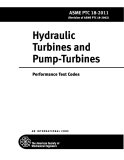 Hydraulic Turbines and Pump-Turbines Performance Test Codes