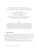 "Báo cáo toán học: ""The asymptotic behavior of the average Lp−discrepancies and a randomized discrepancy"""