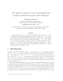 "Báo cáo toán học: ""he largest component in an inhomogeneous random intersection graph with clustering"""