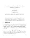 """Báo cáo toán học: """"On the Structure of Sets with Few Three-Term Arithmetic Progressions"""""""
