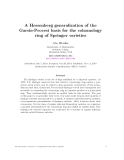 "Báo cáo toán học: ""A Hessenberg generalization of the Garsia-Procesi basis for the cohomology ring of Springer varieties"""