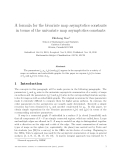 "Báo cáo toán học: ""A formula for the bivariate map asymptotics constants in terms of the univariate map asymptotics constants"""