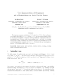 """Báo cáo toán học: """"The Enumeration of Sequences with Restrictions on their Partial Sum"""""""