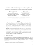 """Báo cáo toán học: """"Invariant and coinvariant spaces for the algebra of symmetric polynomials in non-commuting variables"""""""