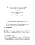 """Báo cáo toán học: """"H-Decompositions of r-graphs when H is an r-graph with exactly 2 edges"""""""