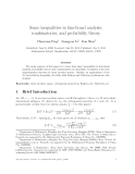 "Báo cáo toán học: ""Some inequalities in functional analysis, combinatorics, and probability theory"""