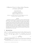 "Báo cáo toán học: ""A Bijective Proof of a Major Index Theorem of Garsia and Gessel"""