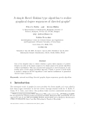 "Báo cáo toán học: ""A simple Havel–Hakimi type algorithm to realize graphical degree sequences of directed graphs"""