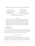 "Báo cáo toán học: ""A finite calculus approach to Ehrhart polynomials"""