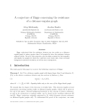 "Báo cáo toán học: ""A conjecture of Biggs concerning the resistance of a distance-regular graph"""