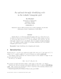 """Báo cáo toán học: """"An optimal strongly identifying code in the infinite triangular grid"""""""
