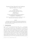 """Báo cáo toán học: """"Improved Upper Bounds for the Laplacian Spectral Radius of a Graph"""""""