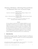 "Báo cáo toán học: ""Maximum Multiplicity of Matching Polynomial Roots and Minimum Path Cover in General Graphs"""
