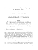 "Báo cáo toán học: ""Independence complexes and Edge covering complexes via Alexander duality"""