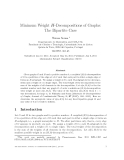"Báo cáo toán học: ""Minimum Weight H-Decompositions of Graphs: The Bipartite Cas"""