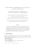 """Báo cáo toán học: """"On the number of subsequences with a given sum in a finite abelian grou"""""""