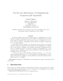 "Báo cáo toán học: ""On the area discrepancy of triangulations of squares and trapezoids"""