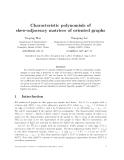 """Báo cáo toán học: """"Characteristic polynomials of skew-adjacency matrices of oriented graphs"""""""