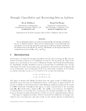 """Báo cáo toán học: """"Strongly Cancellative and Recovering Sets on Lattices"""""""