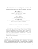 """Báo cáo toán học: """" Linear recurrences and asymptotic behavior of exponential sums of symmetric boolean functions"""""""