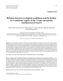 "Báo cáo khoa học: ""Relation between ecological conditions and fir decline in a sandstone region of the Vosges mountains (northeastern France) Anne-Laure Thomasa, Jean-Cl."""