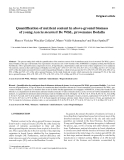 """Báo cáo khoa học: """"Quantification of nutrient content in above-ground biomass of young Acacia mearnsii De Wild., provenance Bodalla'"""