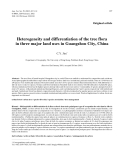 "Báo cáo khao học: ""Heterogeneity and differentiation of the tree flora in three major land uses in Guangzhou City, China"""