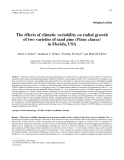 "Báo cáo khoa học: ""The effects of climatic variability on radial growth of two varieties of sand pine (Pinus clausa) in Florida, USA"""