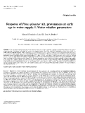 "Báo cáo khoa học: ""esponse of Pinus pinaster Ait. provenances at early age to water supply. I. Water relation parameters"""