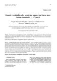 "Báo cáo khoa học: ""Genetic variability of a scattered temperate forest tree: Sorbus torminalis L. (Crantz)"""