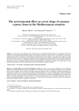 """Báo cáo toán học: """"he environmental effect on crown shape of common cypress clones in the Mediterranean countries"""""""