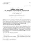 """Báo cáo khoa học: """"Modelling canopy growth and steady-state leaf area index in an aspen stan"""""""