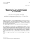 """Báo cáo khoa học: """"A generic model of forest canopy conductance dependent on climate, soil water availability and leaf area index"""""""