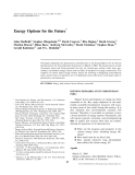Energy Options for the Future phần 1